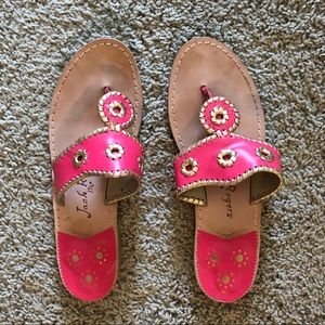 Pink and Gold Jack Rogers